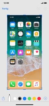 Apple iPhone X - iOS 11 - Bildschirmfotos erstellen und sofort bearbeiten - 7 / 8
