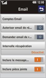 LG GD900 Crystal - E-mail - Configuration manuelle - Étape 5