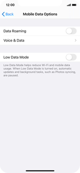 Apple iPhone XS - iOS 14 - Internet and data roaming - Disabling data roaming - Step 6