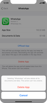 Apple iPhone X - Applications - How to uninstall an app - Step 7