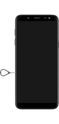Samsung Galaxy J6 - Premiers pas - Insérer la carte SIM - Étape 2