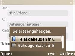 Nokia E72 - e-mail - hoe te versturen - stap 10