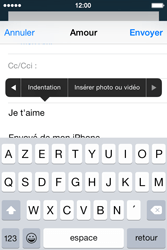 Apple iPhone 4s iOS 8 - E-mail - Envoi d