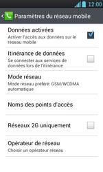 LG P700 Optimus L7 - Internet - activer ou désactiver - Étape 6