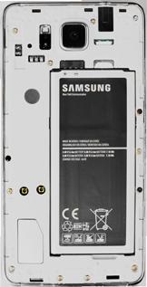 Samsung G850F Galaxy Alpha - Primeros pasos - Quitar y colocar la batería - Paso 6