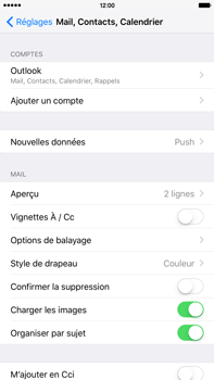 Apple iPhone 6 Plus iOS 9 - E-mail - 032c. Email wizard - Outlook - Étape 9