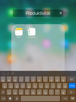 Apple iPad Air iOS 11 - Startanleitung - Personalisieren der Startseite - Schritt 6