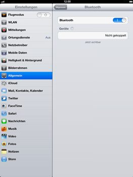 Apple iPad 4 - Bluetooth - Geräte koppeln - Schritt 9