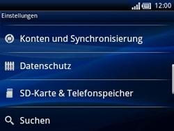 Sony Ericsson Xperia X10 Mini Pro - Fehlerbehebung - Handy zurücksetzen - Schritt 6