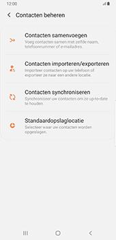 Samsung Galaxy S8+ - Android Pie (SM-G955F) - Contacten en data - Contacten kopiëren van toestel naar SIM - Stap 6