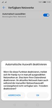 Huawei P20 - Netzwerk - Manuelle Netzwerkwahl - Schritt 7