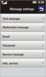 LG GC900 Viewty Smart - Voicemail - Manual configuration - Step 4