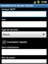Samsung Galaxy Y - E-mail - Configuration manuelle - Étape 11