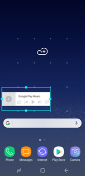 Samsung Galaxy S8 - Android Oreo - Getting started - Installing widgets and applications on your start screen - Step 7