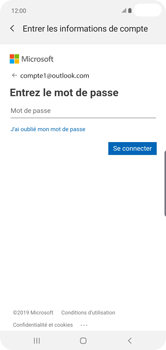 Samsung Galaxy S10 Plus - E-mail - 032c. Email wizard - Outlook - Étape 8