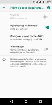 Motorola Moto G6 - Internet et connexion - Partager votre connexion en Wi-Fi - Étape 10