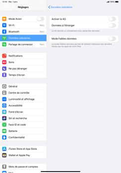 Apple iPad Pro 11 (2018) - iPadOS 13 - Réseau - Comment activer une connexion au réseau 4G - Étape 5