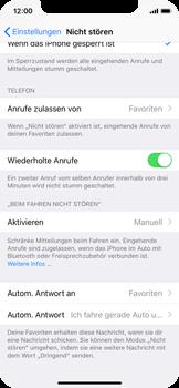 """Apple iPhone X - iOS 11 - Nicht stören – Sicheres Fahren – """"Do Not Disturb while Driving"""" aktivieren (für Fahrer) - 0 / 0"""