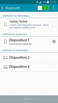 Samsung Galaxy Note 4 - Bluetooth - Collegamento dei dispositivi - Fase 9