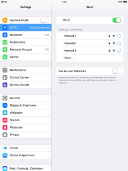 Apple iPad mini - iOS 8 - WiFi - WiFi configuration - Step 5