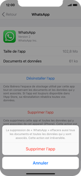 Apple iPhone X - Applications - Comment désinstaller une application - Étape 7