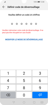 Huawei P Smart 2020 - Sécuriser votre mobile - Activer le code de verrouillage - Étape 6