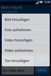 Sony Ericsson Xperia X8 - MMS - Erstellen und senden - Schritt 11
