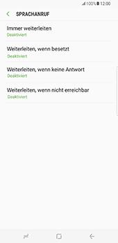Samsung Galaxy S8 Plus - Anrufe - Rufumleitungen setzen und löschen - Schritt 9