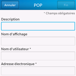BlackBerry Q10 - E-mail - Configuration manuelle - Étape 8