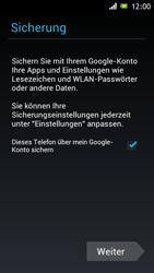Sony Xperia J - Apps - Konto anlegen und einrichten - 13 / 16