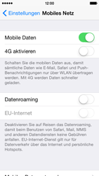 Apple iPhone 5 mit iOS 8 - Netzwerk - Netzwerkeinstellungen ändern - Schritt 5
