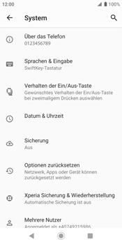 Sony Xperia XZ2 - Android Pie - Fehlerbehebung - Handy zurücksetzen - Schritt 8