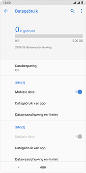 Nokia 3.1 Plus - Android Pie - internet - mobiele data managen - stap 6
