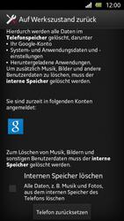 Sony Xperia U - Gerät - Zurücksetzen auf die Werkseinstellungen - Schritt 6