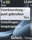 Nokia 2330 classic - Internet - handmatig instellen - Stap 11