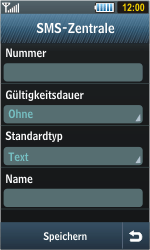 Samsung S8000 Jet - SMS - Manuelle Konfiguration - Schritt 7