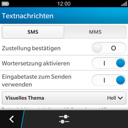 BlackBerry Q5 - SMS - Manuelle Konfiguration - 6 / 11