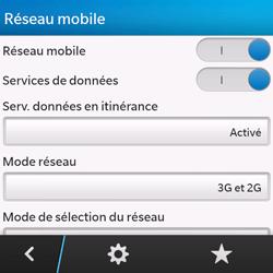 BlackBerry Q10 - Internet et roaming de données - Désactivation du roaming de données - Étape 6