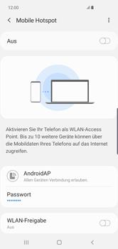 Samsung Galaxy S10 Plus - WiFi - So aktivieren Sie einen WLAN-Hotspot - Schritt 8