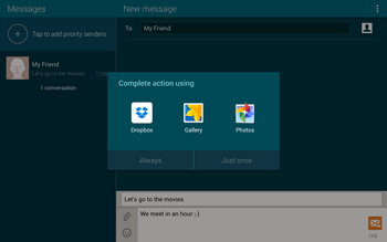 Samsung T805 Galaxy Tab S - MMS - Sending pictures - Step 14