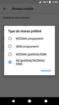 Sony Xperia XA2 Ultra - Réseau - Changer mode réseau - Étape 7