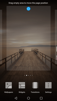 Huawei Mate 9 - Getting started - Installing widgets and applications on your start screen - Step 4