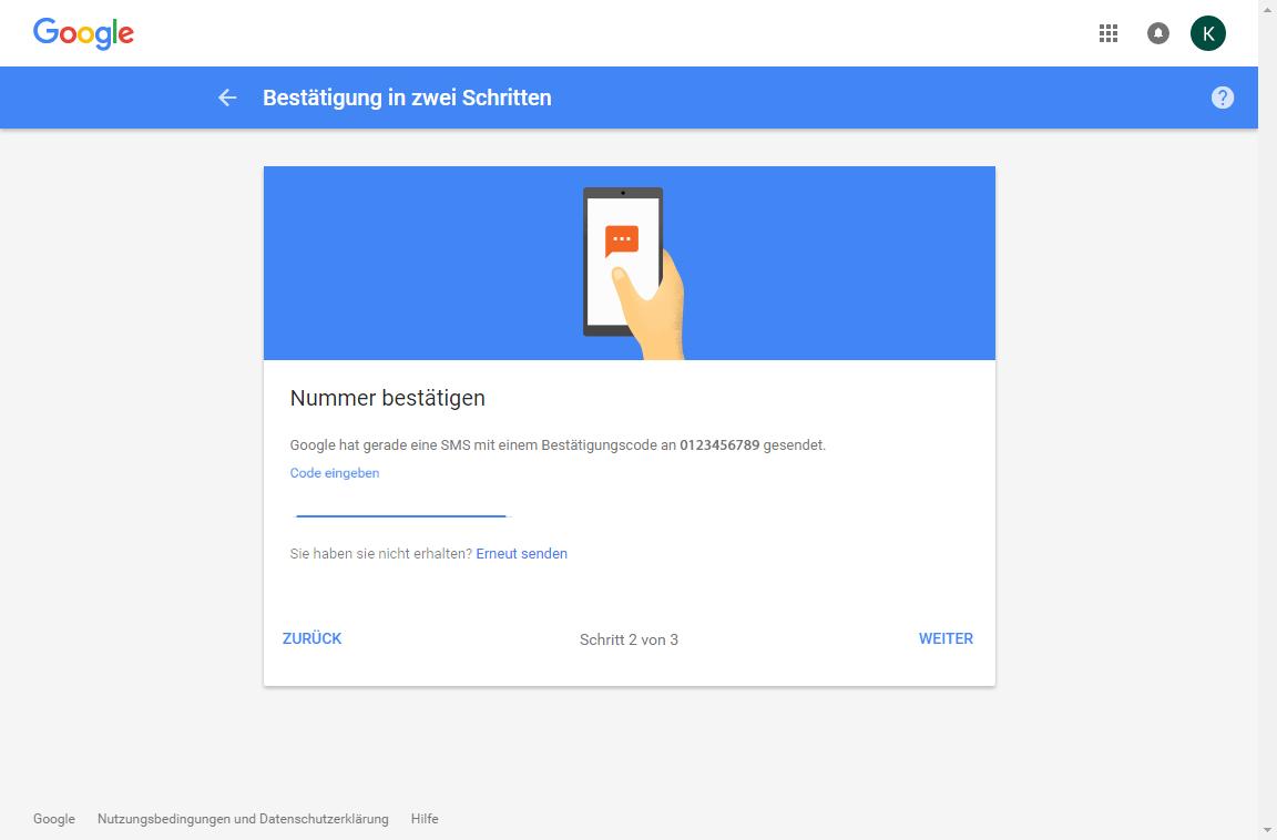 Samsung Galaxy S7 - Datenschutz und Sicherheit - Zwei-Faktor-Authentifizierung - 9 / 11