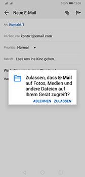 Huawei Mate 20 - E-Mail - E-Mail versenden - Schritt 11