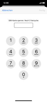 Apple iPhone X - iOS 13 - Startanleitung - So aktivieren Sie eine SIM-PIN - Schritt 6