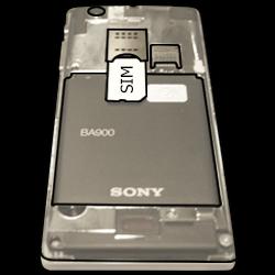 Sony Xperia J - SIM-Karte - Einlegen - Schritt 3