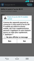 LG G2 - Internet et connexion - Partager votre connexion en Wi-Fi - Étape 9