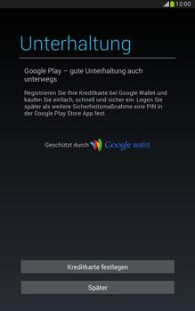 Samsung Galaxy Note 8-0 - Apps - Konto anlegen und einrichten - 0 / 0