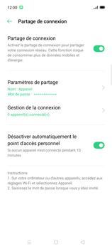Oppo Find X2 Lite - Internet et connexion - Partager votre connexion en Wi-Fi - Étape 10
