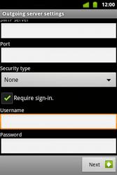 Alcatel OT-983 - E-mail - Manual configuration - Step 17